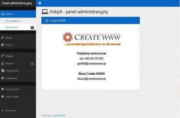 Panel CMS - tworzenie stron www