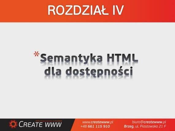 Rozdział IV - Semantyka HTML dla dostępności